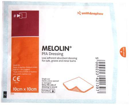 Melolin 10x10 melolin pfa low adherent absorbent dressing