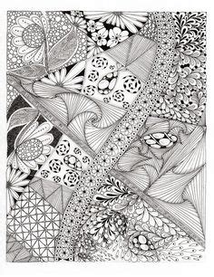 doodle flowers explosion bible memory verse zentangle 174 inspired coloring page