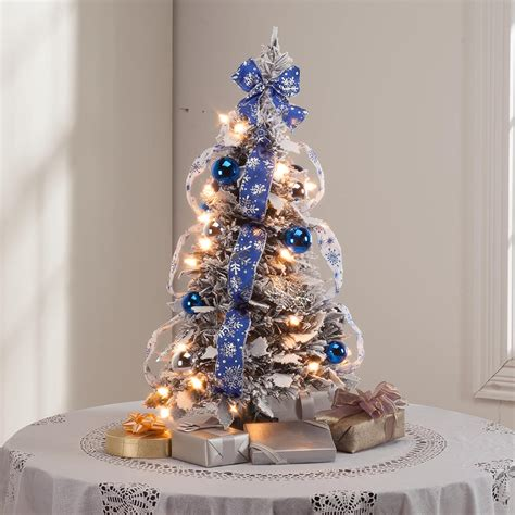 xmas trees frosted pull up 2 ft frosted winter style pull up tree by peak kimball