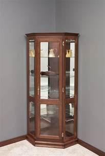 Amish Corner Curio Cabinet Amish Corner Curio Cabinet