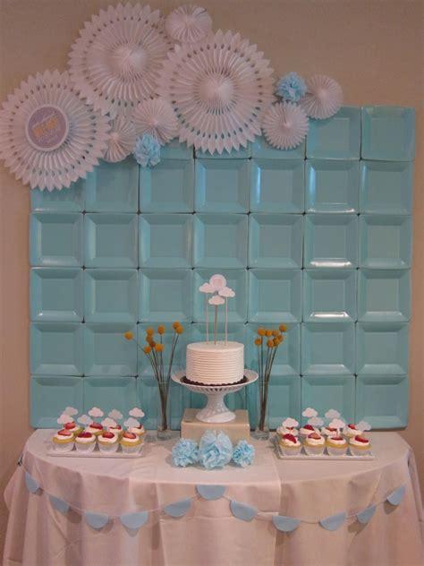 bridal shower rubber sts paper plate backdrop backdrop ideas