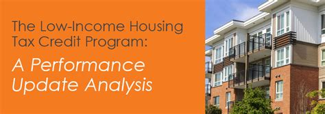 section 42 tax credit program the low income housing tax credit program a performance