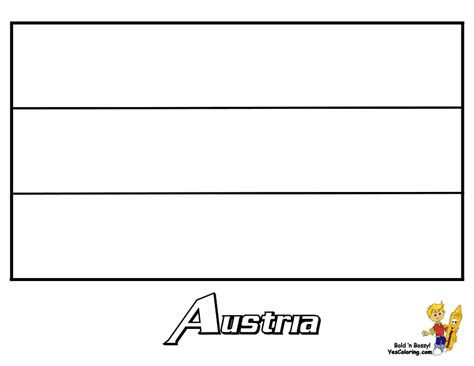 austria flag free coloring pages