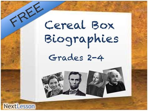 cereal box biography template cereal box biography technology literacy creative