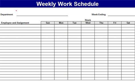 work roster layout weekly work schedule templates free download work