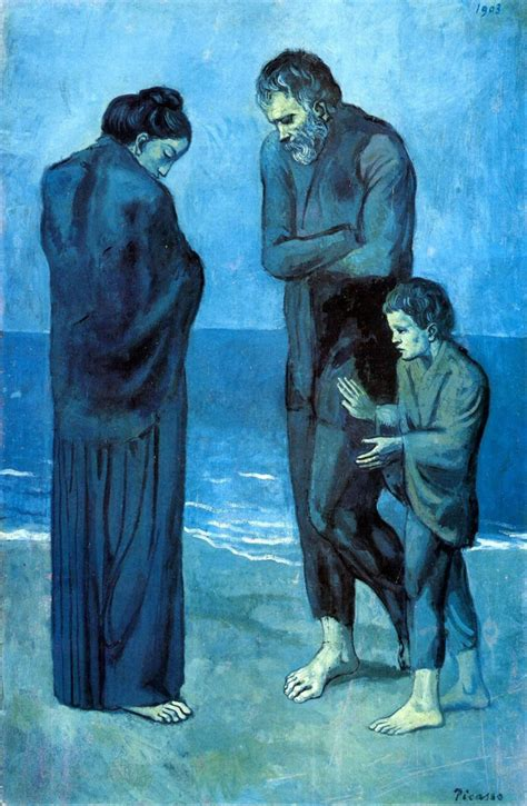 picasso paintings for sale by granddaughter mine depression sad lonely painting alone blue pablo