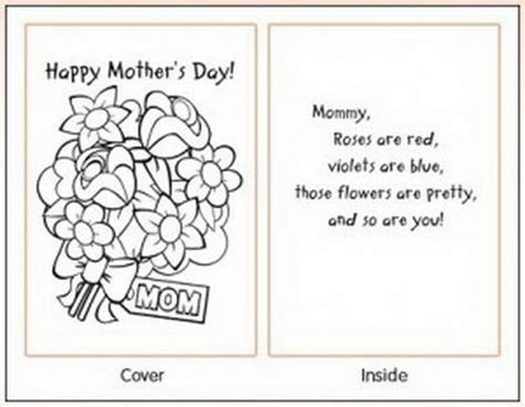 preschool mothers day card template easy printable mothers day cards ideas for recipes