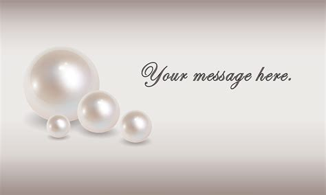 business card jewelry templates pearl wedding business card design 701091