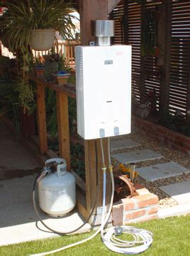 outdoor shower water heater eccotemp l10 high output outdoor tankless water heater
