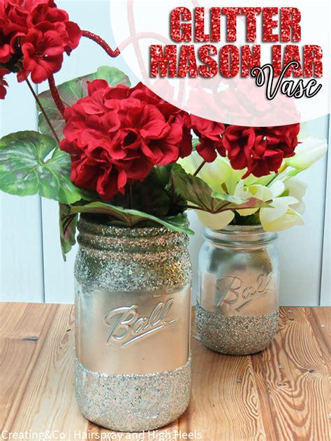Diy Jar Vase by Diy Glitter Jar Vase Hairspray And Highheels