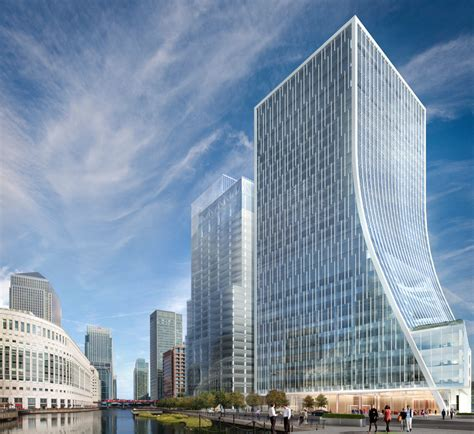 100 floors level 44 tower canary wharf wins planning for two office towers newell