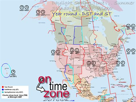 time zone map canada and usa ontimezone time zones for the usa and america