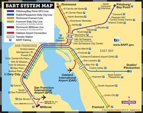 Bart Map San Francisco by San Francisco Transportation San Francisco Visitors