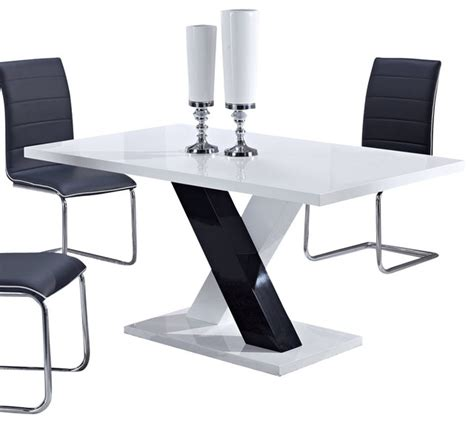 Global Furniture Usa Dining Table by White High Gloss And Black By Global Furniture Usa