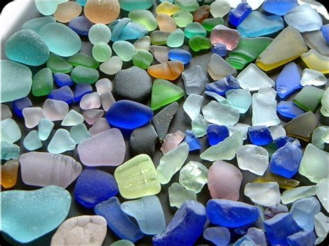out of sea glass sea glass diamonds shaped by the waves