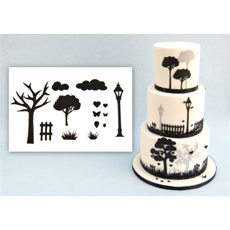 Patchwork Fondant Cutters - countryside silhouette cutter set by patchwork cutters
