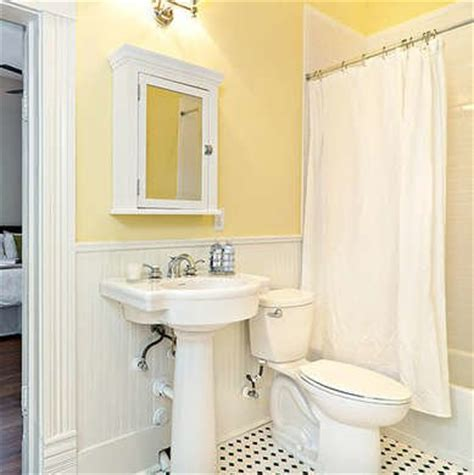 small yellow bathroom yellow bathroom bathroom color schemes smart choices for small spaces bob vila