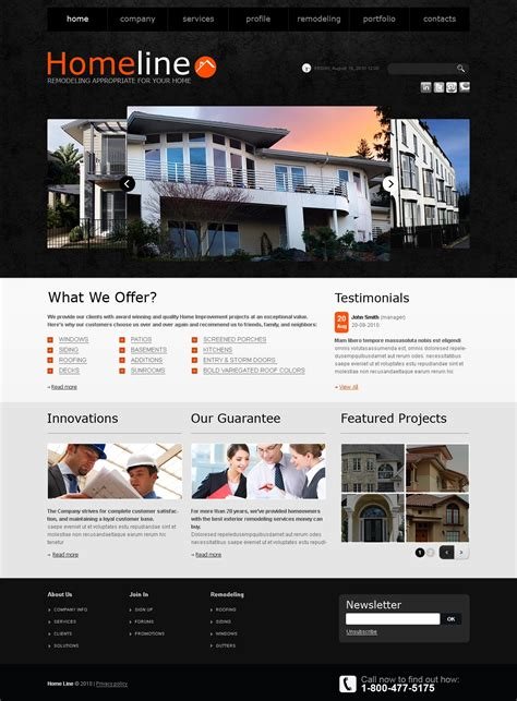 home remodeling website template 32055