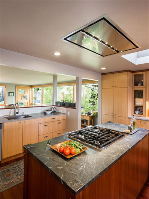 vent hood over kitchen island flush ceiling mount range hood a great alternative for