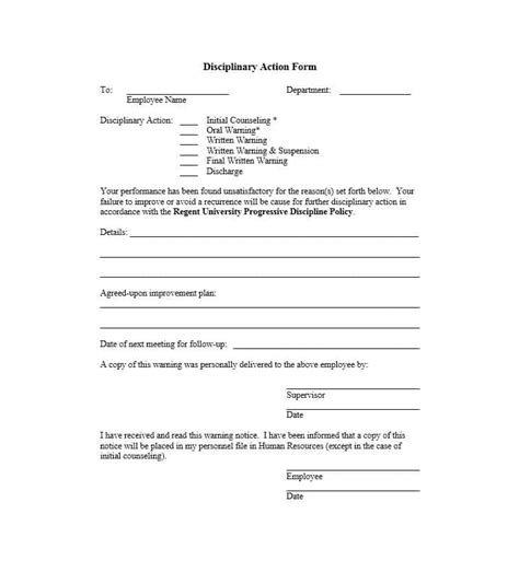 Explanation Letter Sleeping While On Duty disciplinary form 11 template lab
