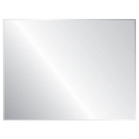 36 X 48 Bathroom Mirror Shop Style Selections Silver Beveled Frameless Wall Mirror At Lowes