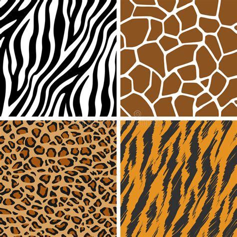 tiger pattern seamless vector animal set giraffe leopard tiger zebra seamless