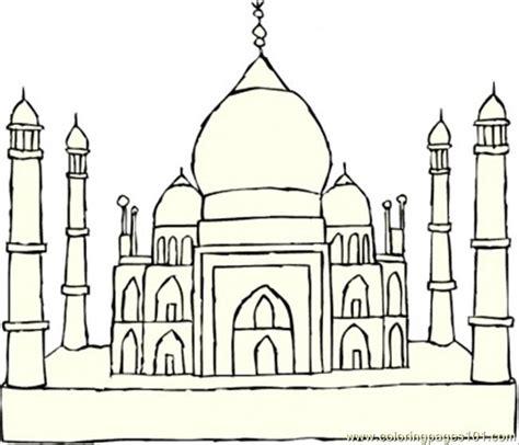 taj mahal coloring page free printable coloring pages