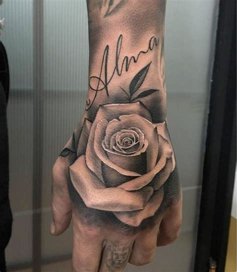 rose on hand tattoo tattoos and