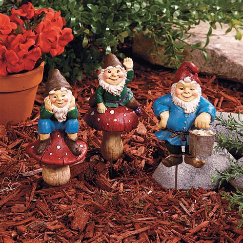 Gnome Garden Decor Gnome Plant Stakes Trading Discontinued