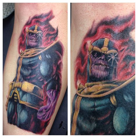 thanos tattoo working on thanos comics