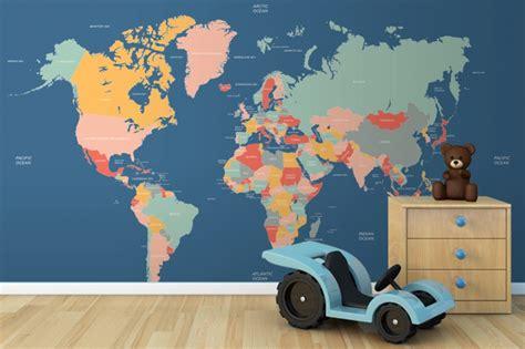 Navigator Mural Map - navigator world map mural room playrooms and rooms