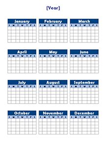 year calendar template free yearly blank calendar template printable blank