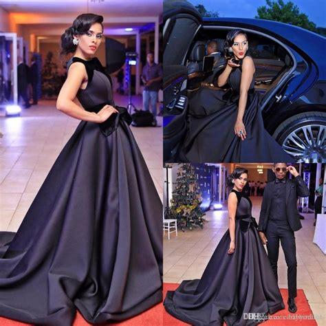 arrival elegant black celebrity prom dresses  big