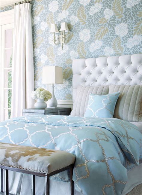 turquoise bedroom wallpaper turquoise duvet transitional bedroom thibaut design