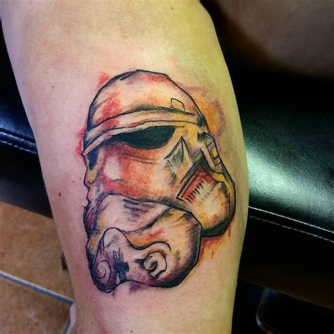 stormtrooper tattoo abstract stormtrooper by toniatutattoo