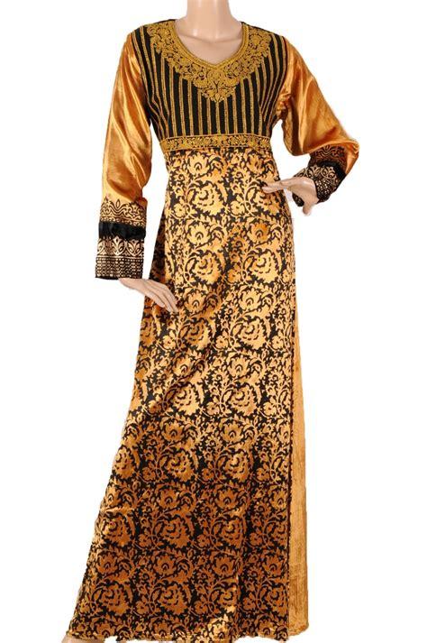 Kaftan N Gold aljalabiya gold velvet kaftan with black