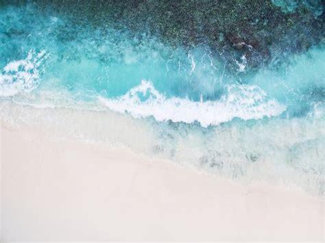 beautiful tropical white empty beach  sea waves