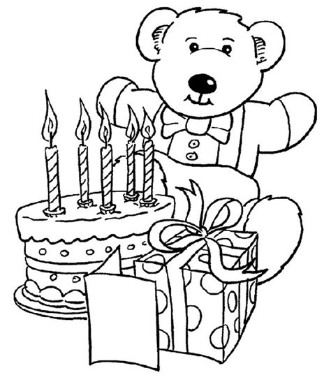 pages for toddlers happy birthday cake coloring page for birthday