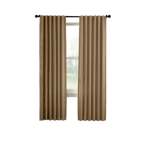 curtain depot solaris black media back tab curtain 1622299 the home depot