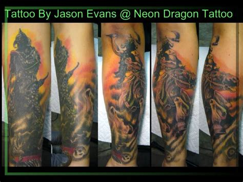 neon dragon tattoo trend style