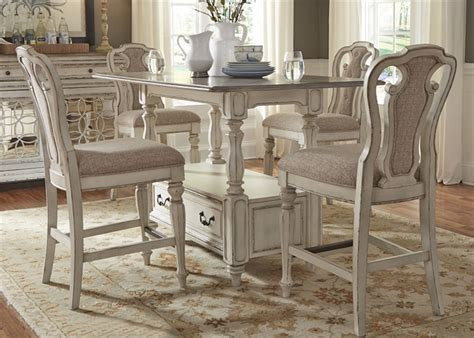 white counter height table set magnolia manor counter height table 5 dining set in