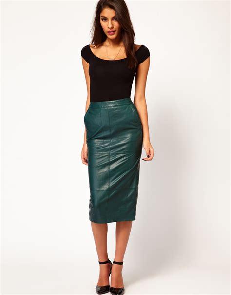 brainy mademoiselle leather skirt