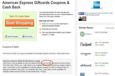Amex Gift Card Cash Back - churning amex gift cards at 1 cash back better than buying visa gift cards at office