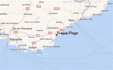 frejus meteo town map 83 83061 administrative map