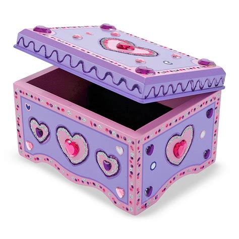 how make jewelry box decorate your own wooden jewelry box educational toys planet