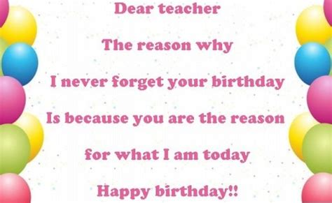 happy birthday wishes  teacher images messages  quotes