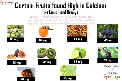 fruit high in calcium certain fruits high in calcium dailyonefruit