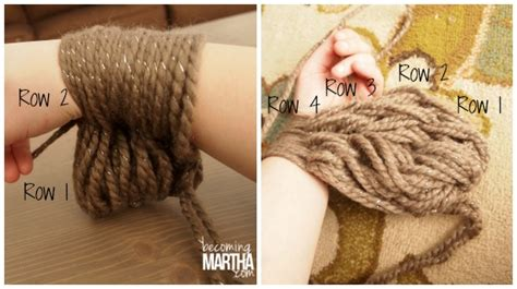 how to arm knit infinity scarf arm knitting an infinity scarf becoming martha