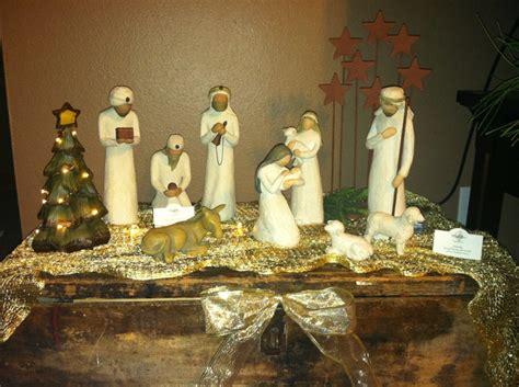 willow tree nativity  display