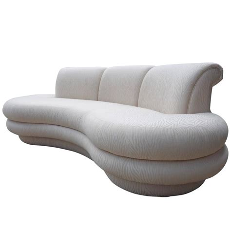 kidney shaped sofas adrian pearsall kidney shaped curved sofa for comfort